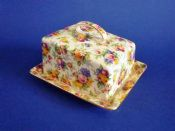 Rare Vintage Royal Winton 'Evesham' Chintz Dane Cheese Dish c1951